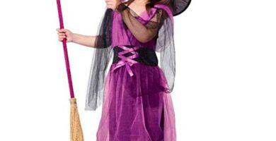 disfraz bruja niña lila